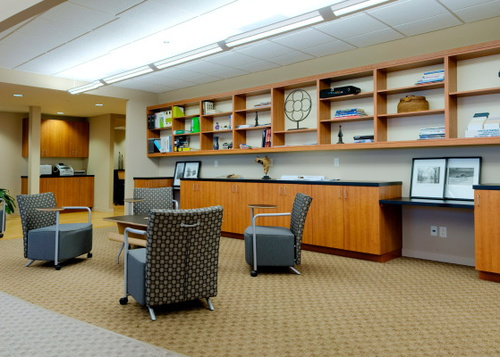 Commercial office building fit out interior design Illinois